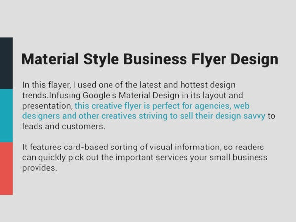 material style business flyer design