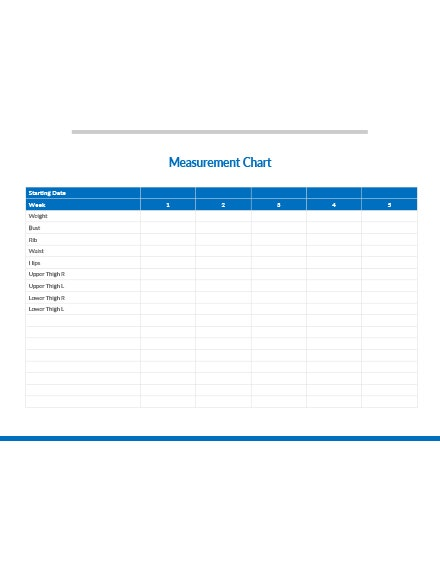 measurement chart template
