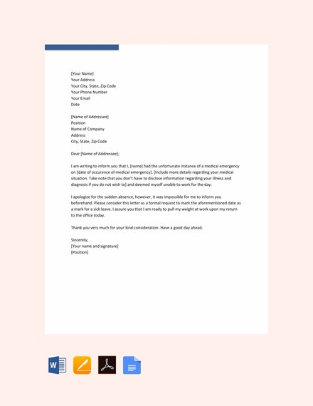 medical leave letter template