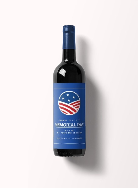 memorial day wine label