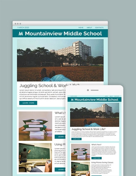 middle school newsletter template