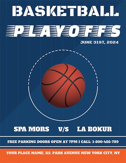 minimal basketball sports flyer template