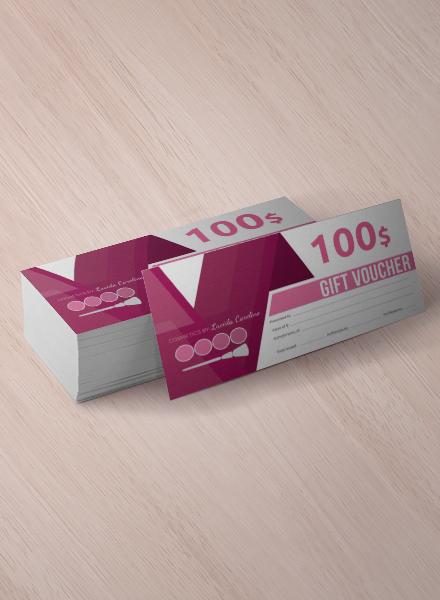 minimal business gift voucher sample