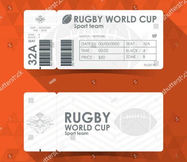 Minimal Rugby Ticket Example