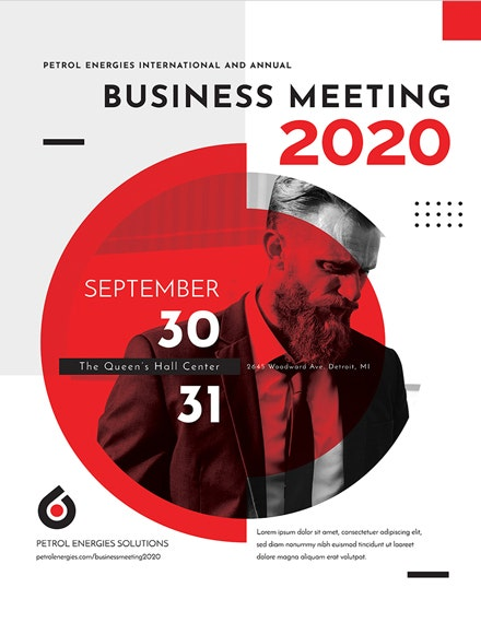 modern business event poster template