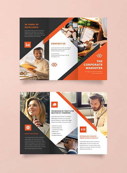 modern business trifold brochure template
