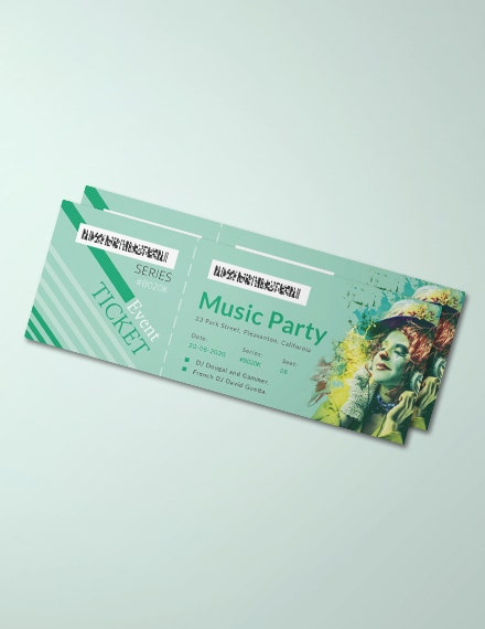 modern concert event ticket template
