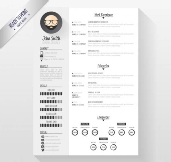 modern employee resume