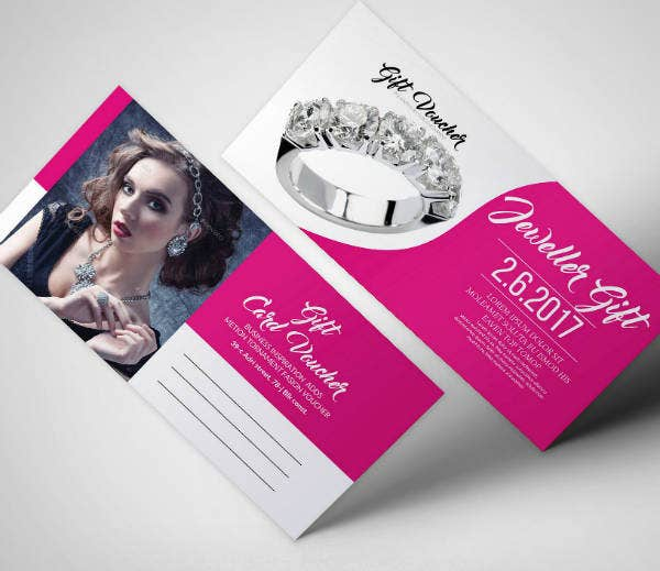 modern jewelry voucher example