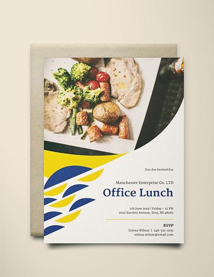 modern office lunch invitation format