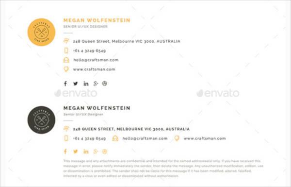 modern ux ui designer email signature