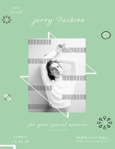 monochrome fashion store poster template