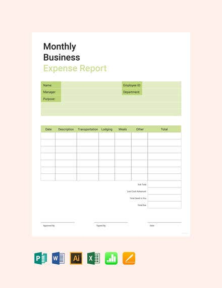 monthly-business-expense-report-template