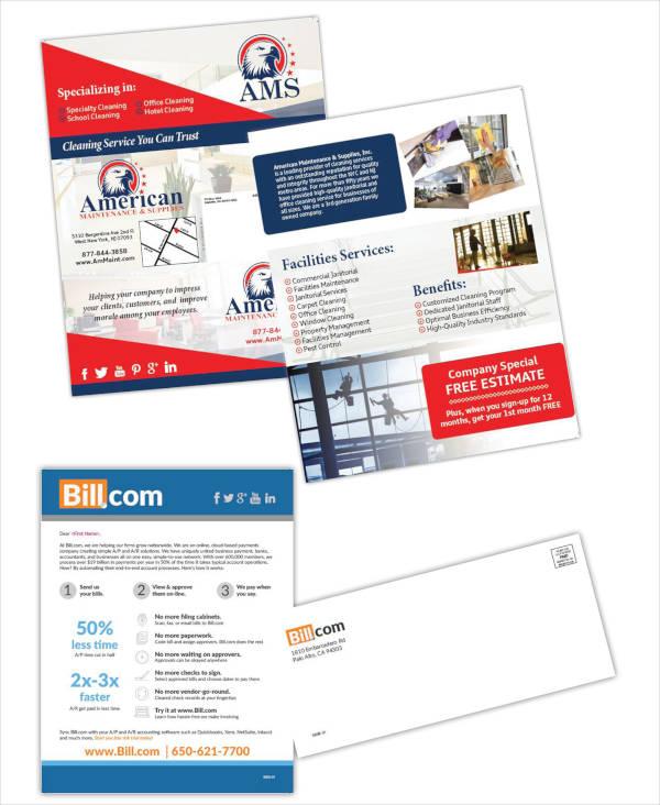 multipurpose advertising brochure