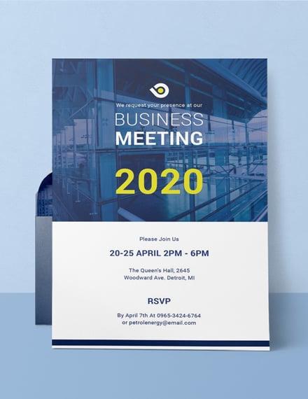 Multipurpose Business Meeting Invitation Example