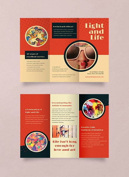 Multipurpose Retro Advertising Brochure Template