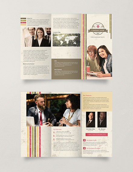Multipurpose Retro Trifold Brochure Design