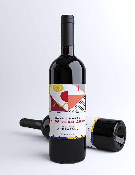 New Year Wine Label jpg440