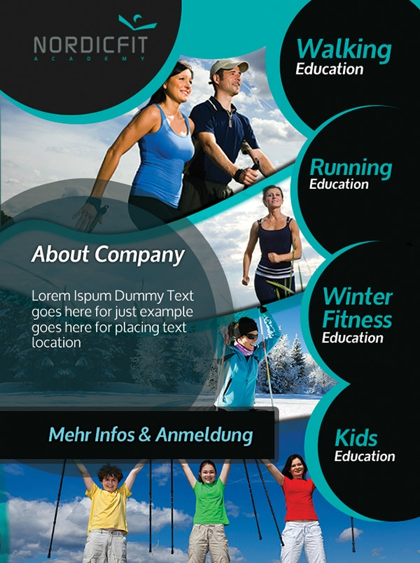 Nordic Sports Event Flyer Template