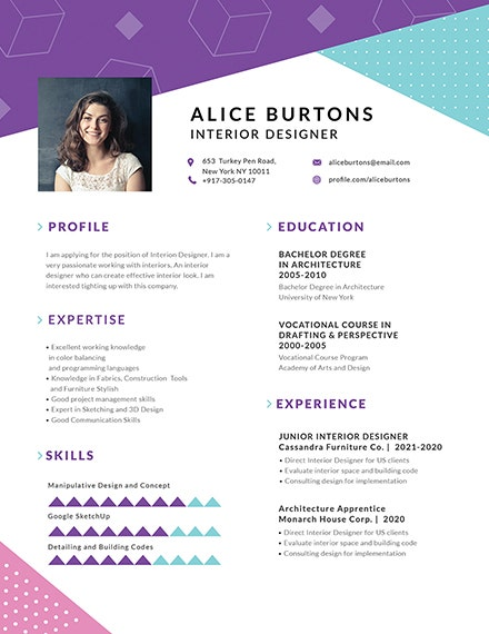 One Page Resume For Experienced Workers