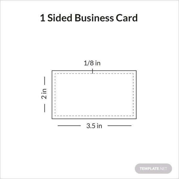 one sided business card sample infographic