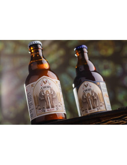 oriel beer label packaging template