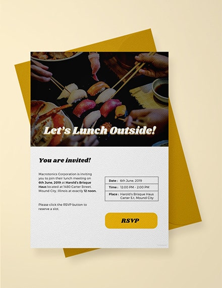 outdoor email lunch invitation sample