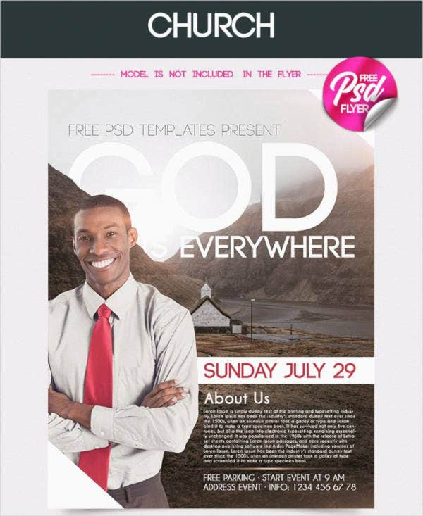 psd church flyer template
