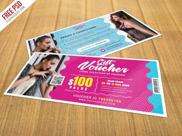 psd gift voucher template
