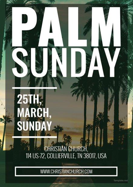 palm sunday church invitation sample