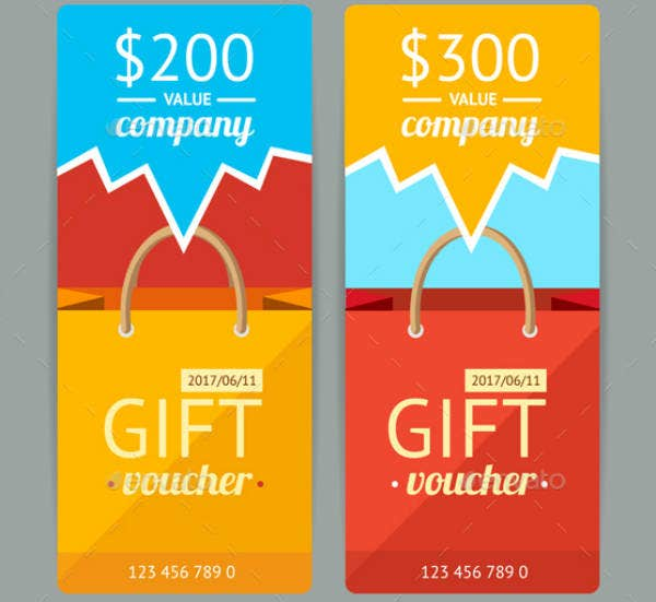 paper bag modern voucher template