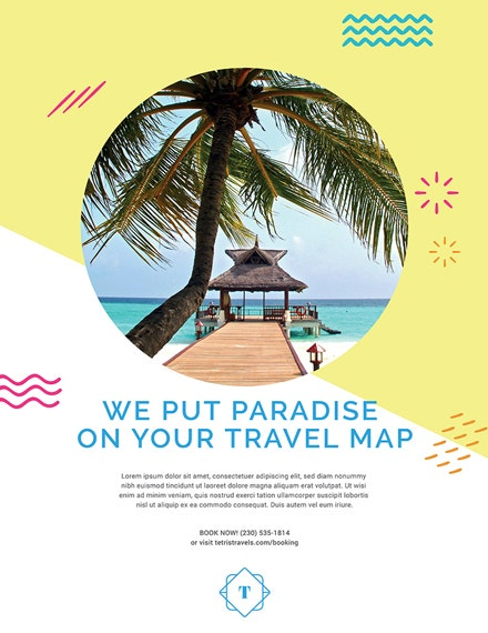 Paradise Travel Advertising Poster Design
