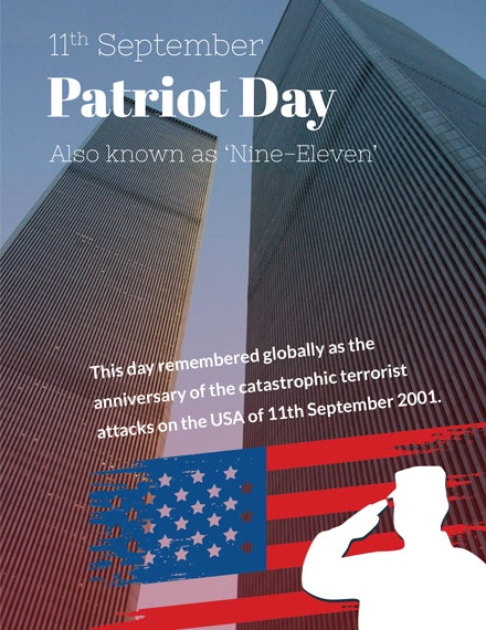 patriot day greeting card template