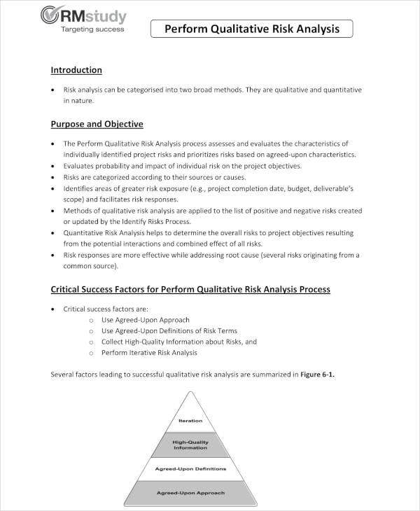 4 Qualitative Risk Analysis Templates PDF