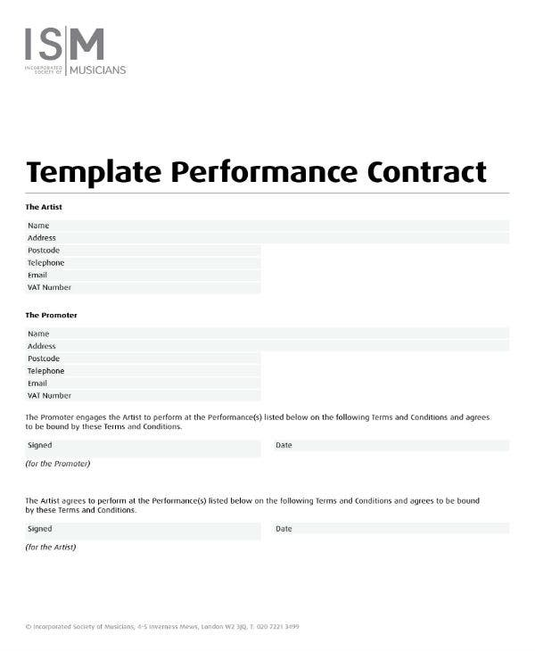performance contract template 1