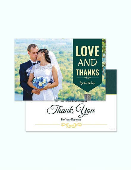 personalized thank you card design