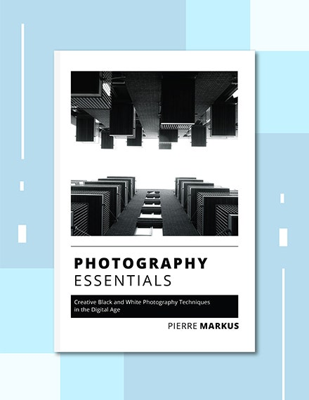 Photo Book Cover Template Example