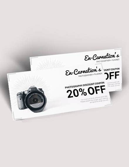 Photography Discount Voucher Template