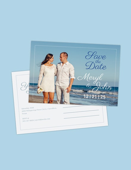 Postcard Save the Date Invitation Template