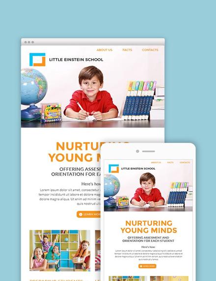 preschool email newsletter template sample
