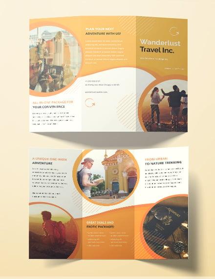 printable travel agency brochure template 240 2