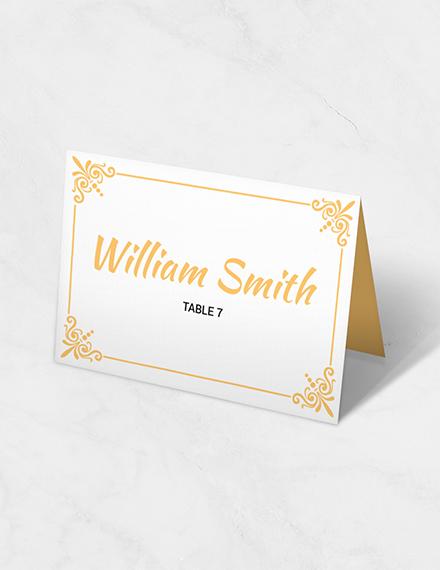 printable wedding table card template