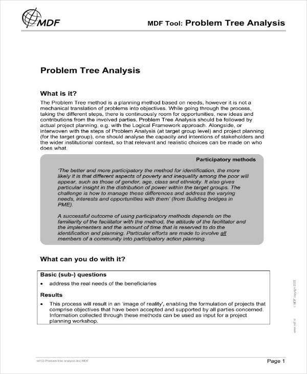 Problem Tree Analysis