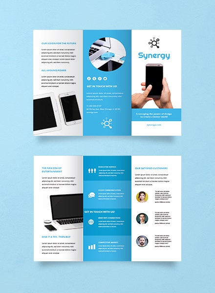 Product Advertising Trifold Brochure Sample