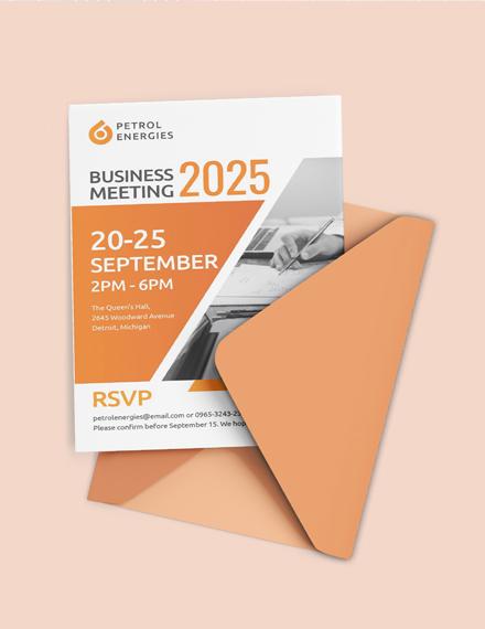 Professional Business Meeting Invitation Sample