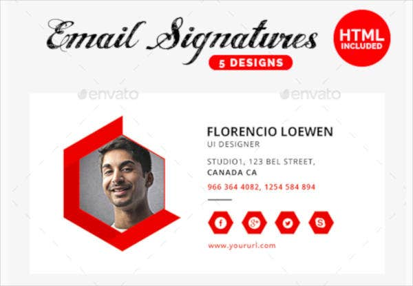 professional ux ui designer email signature