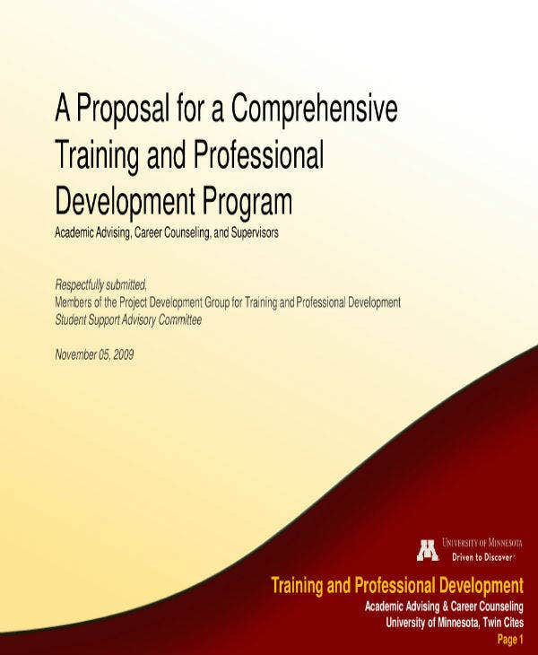 Proposal for Training and Development