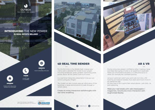 real estate campaign tri fold flyer
