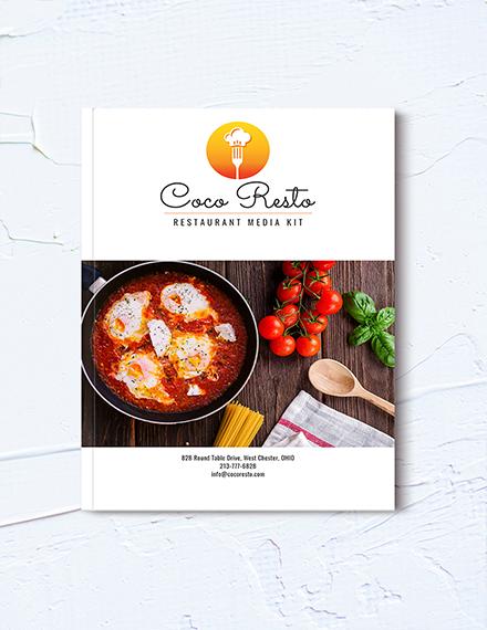 restaurant business media kit template