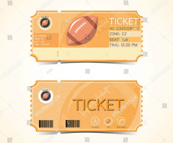 retro style rugby ticket design